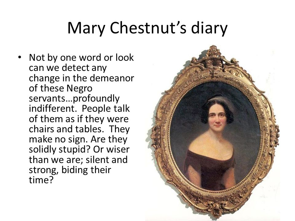 Mary Chestnut's diary