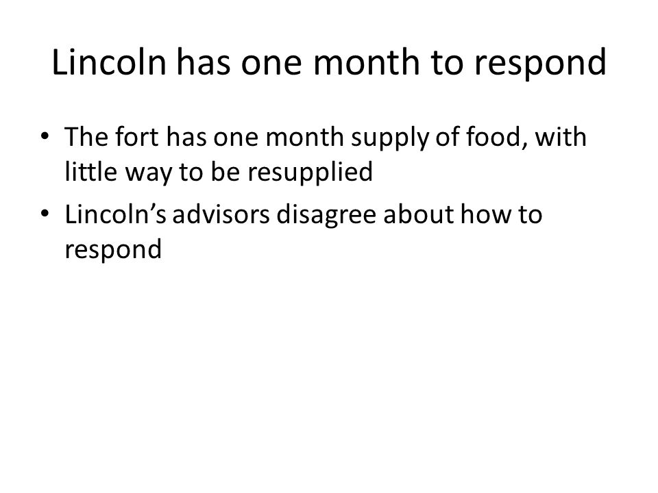 Lincoln has one month to respond