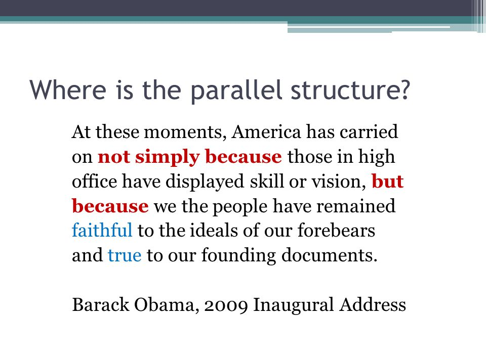 Where is the parallel structure