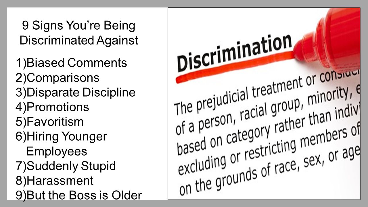 9 Signs You're Being Discriminated Against