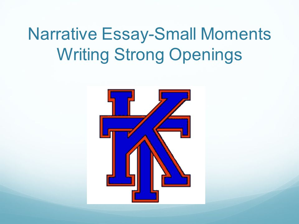 strong narrative essay
