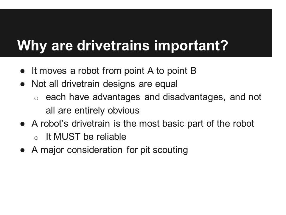 Rules of Drivetrain Design