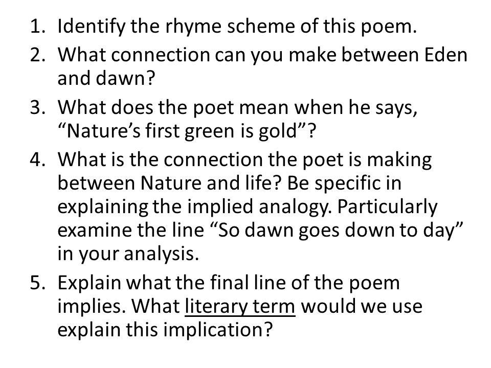 Identify the rhyme scheme of this poem.