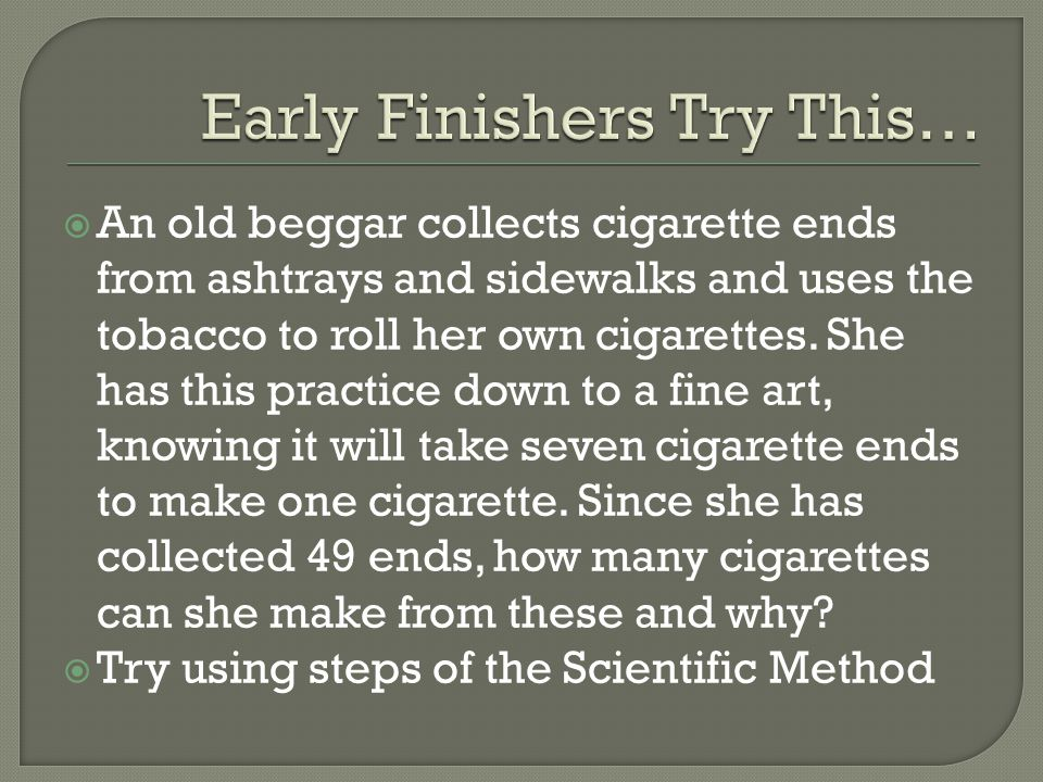 Early Finishers Try This…