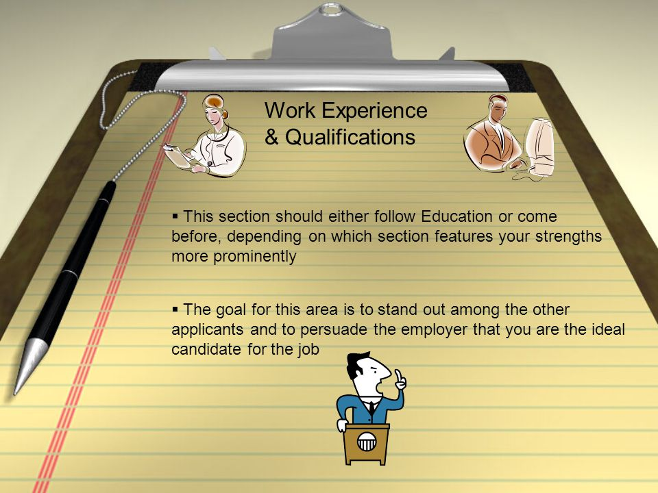 Work Experience & Qualifications