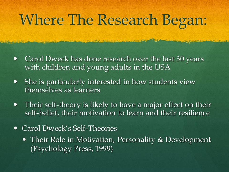 Where The Research Began: