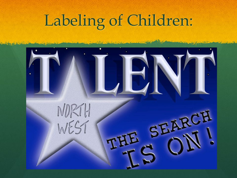 Labeling of Children: