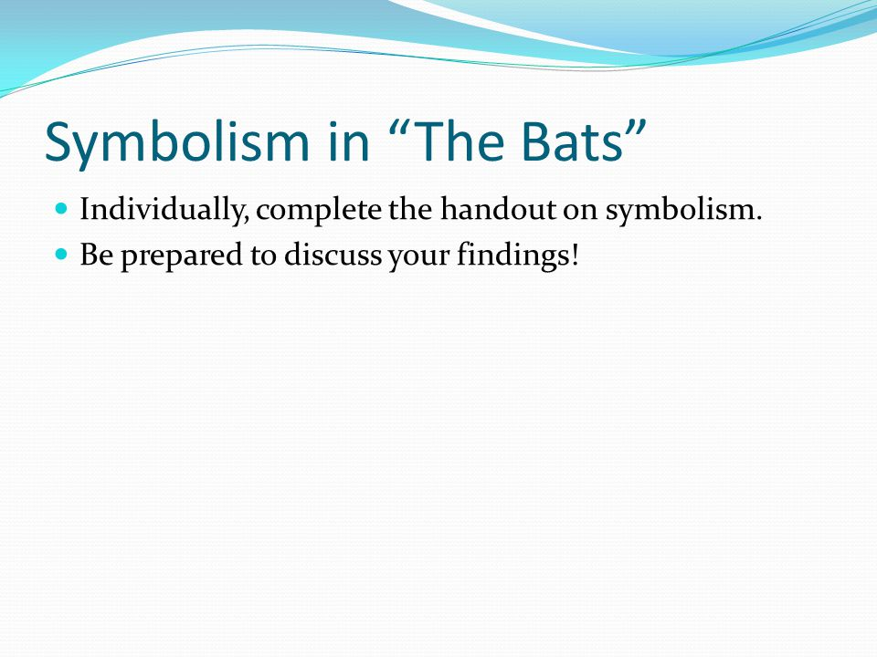 Symbolism in The Bats
