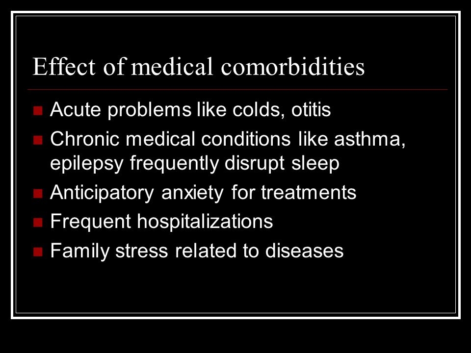 Effect of medical comorbidities