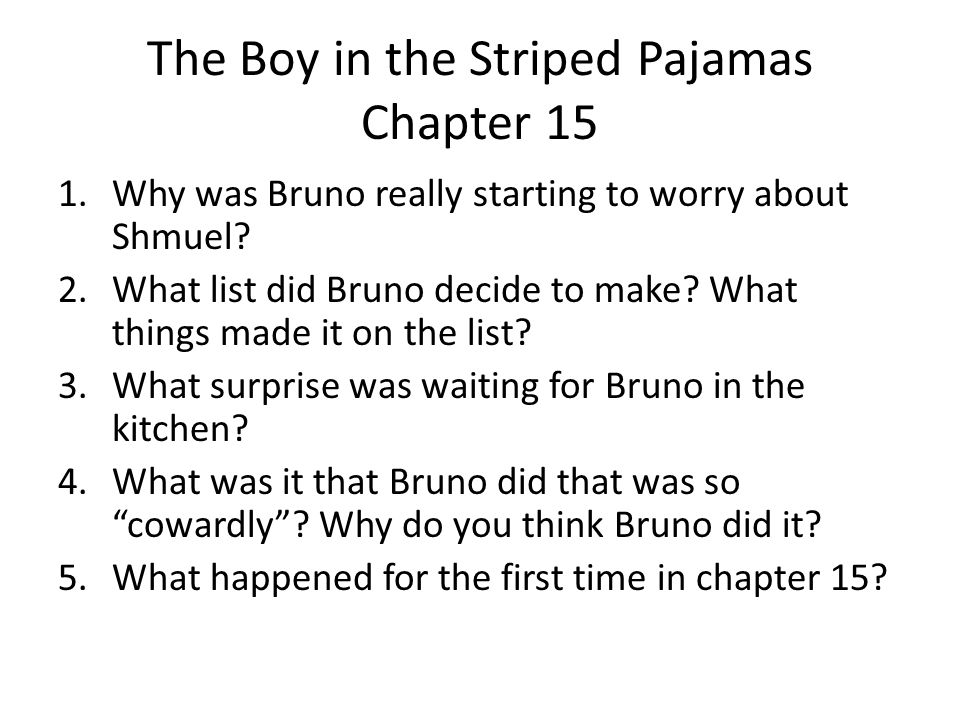 The Boy in the Striped Pajamas Chapter 15