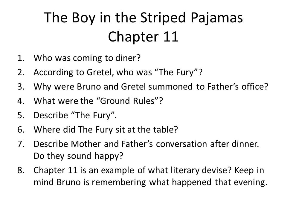 chapter questions what did bruno and gretel see outside the  the boy in the striped pajamas chapter 11