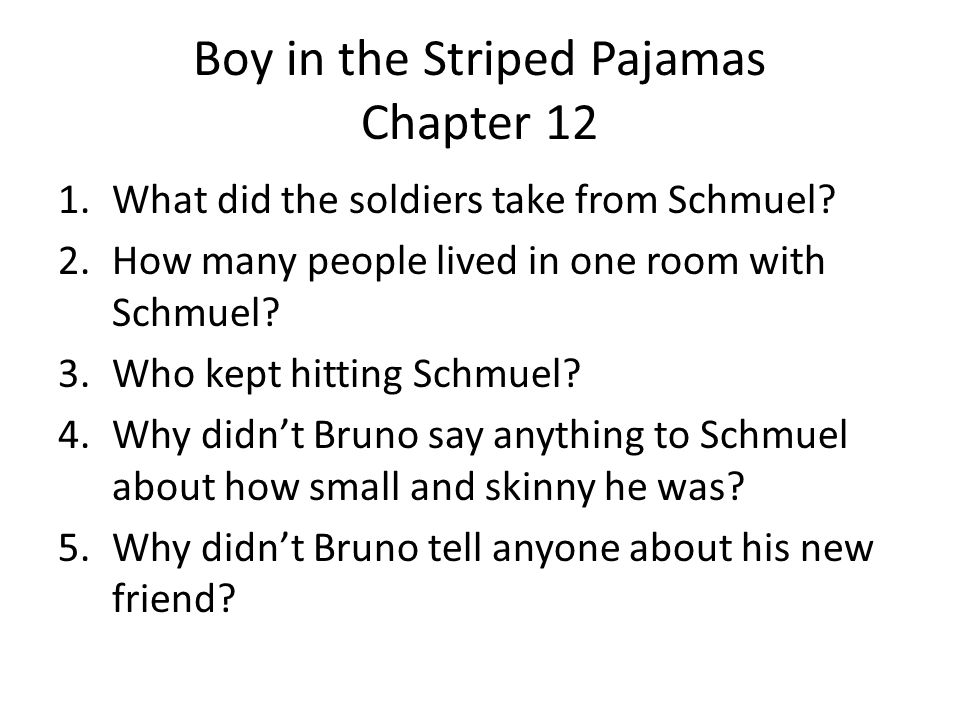 Boy in the Striped Pajamas Chapter 12