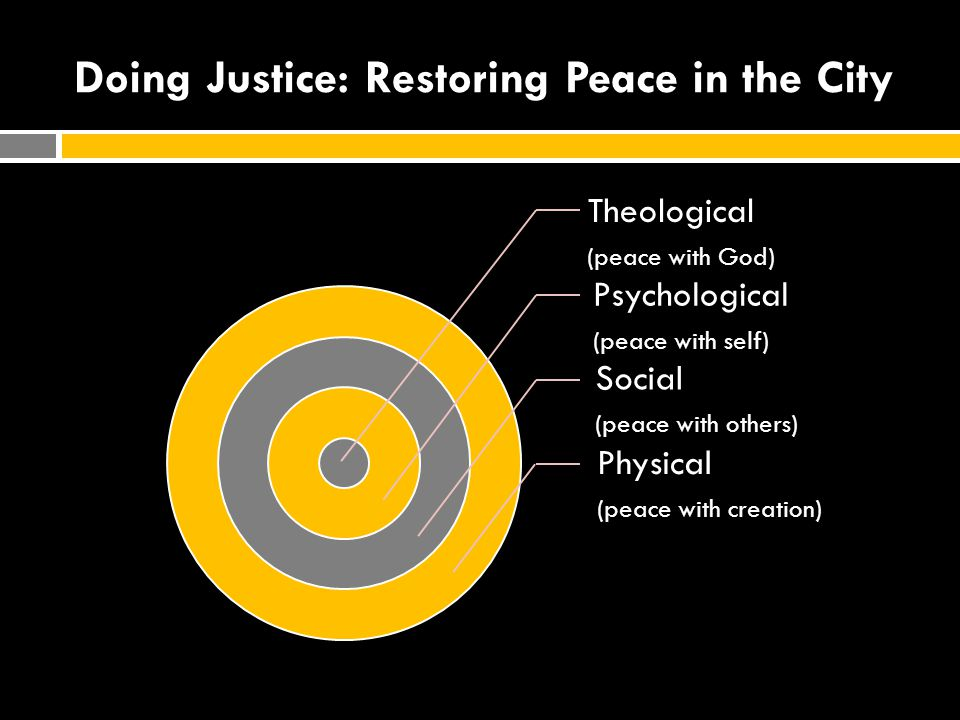 Doing Justice: Restoring Peace in the City