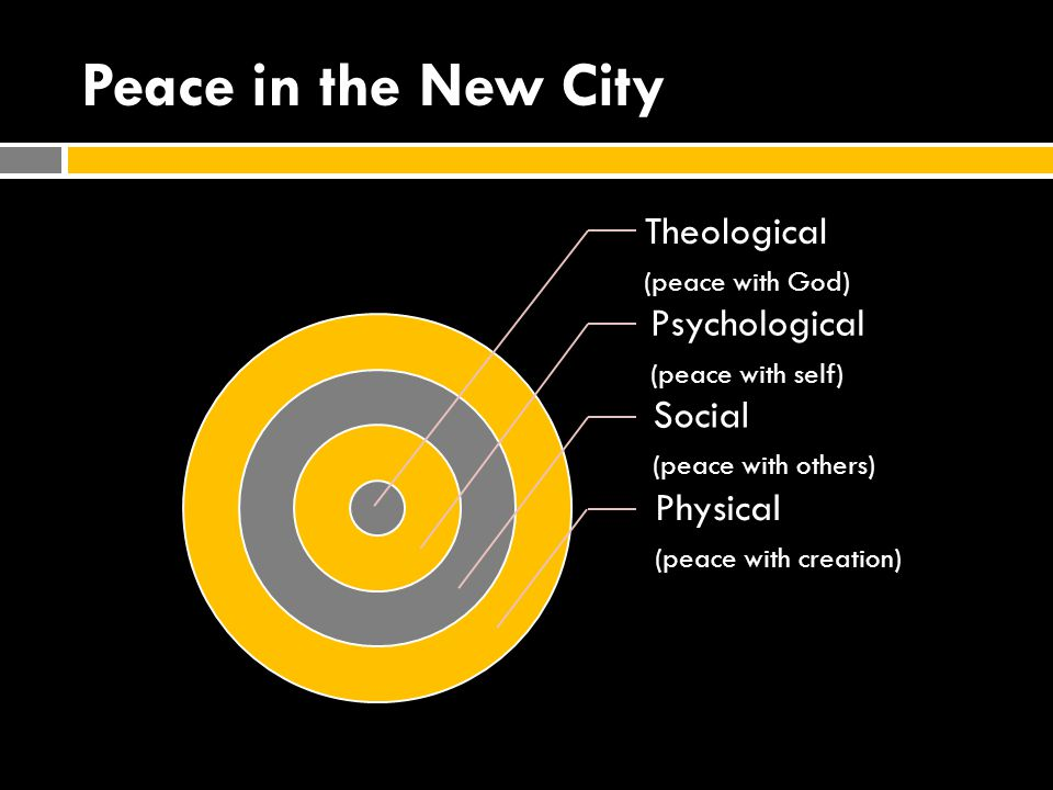 Peace in the New City Theological Psychological Social Physical