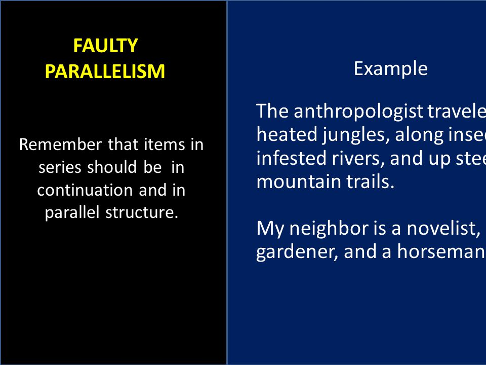 My neighbor is a novelist, a gardener, and a horseman.