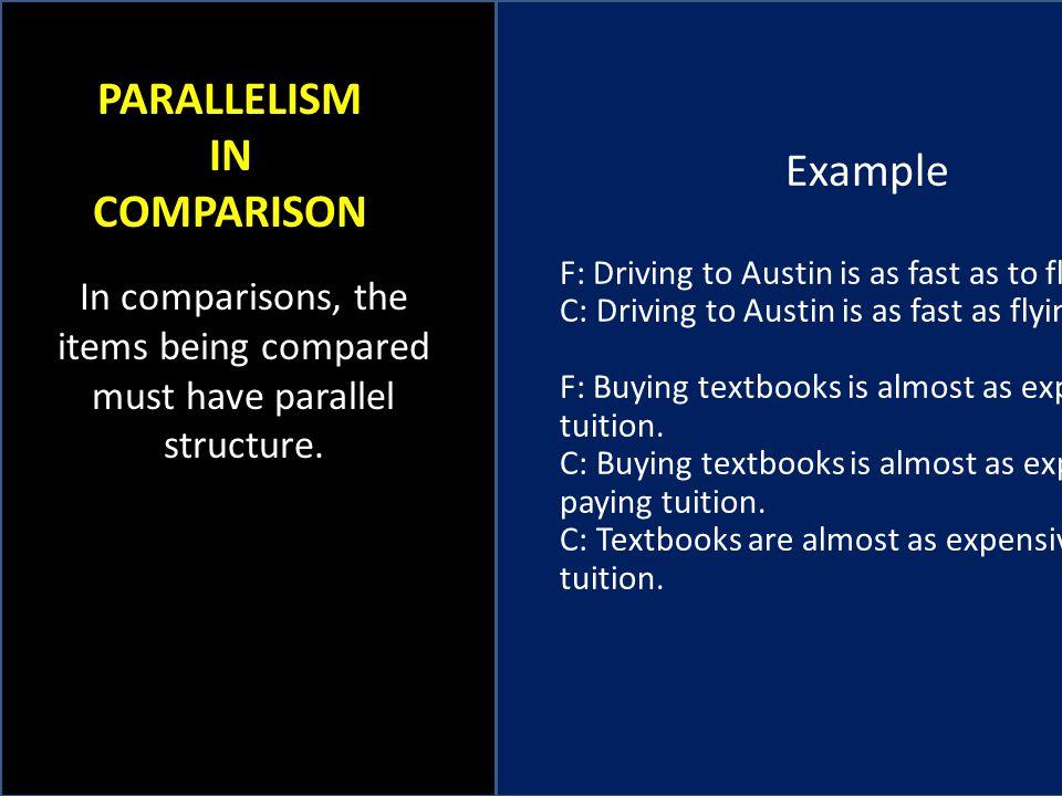 PARALLELISM IN COMPARISON