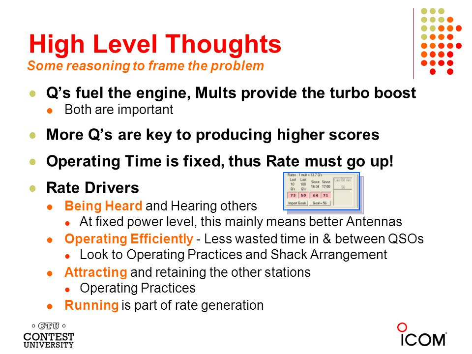 High Level Thoughts Q's fuel the engine, Mults provide the turbo boost
