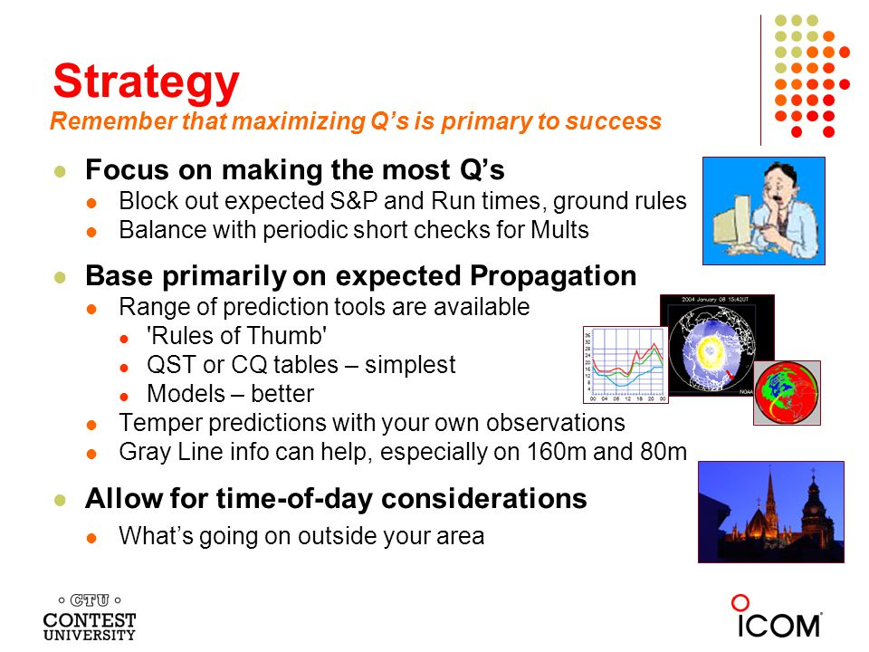 Strategy Focus on making the most Q's