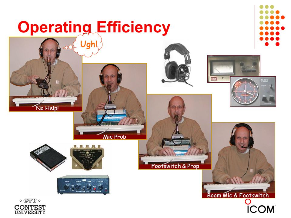 Operating Efficiency Ugh! No Help! Mic Prop Footswitch & Prop