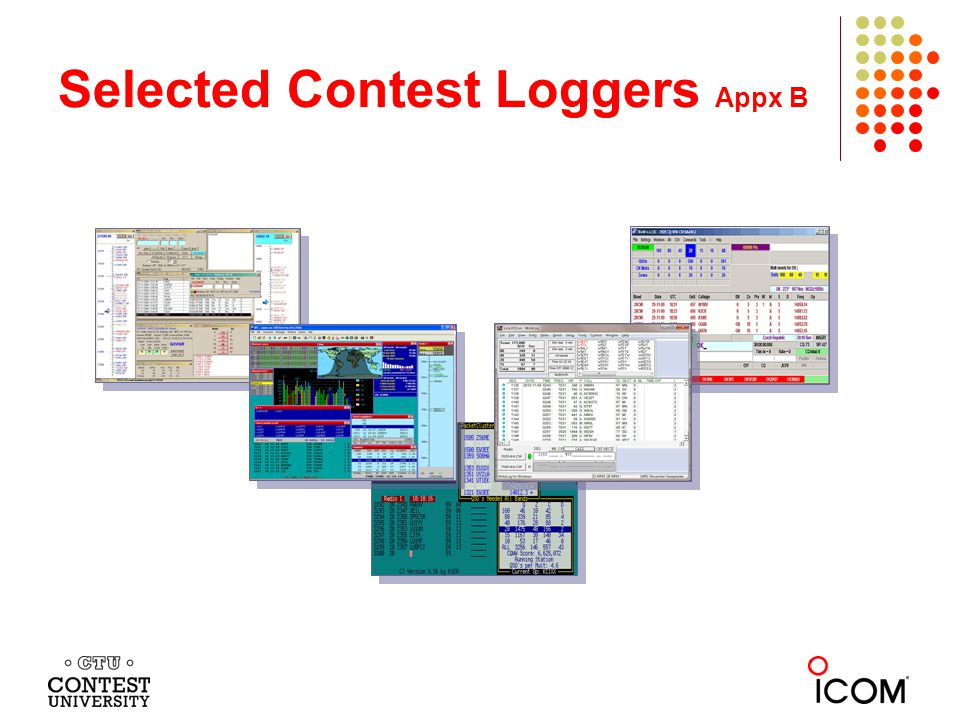 Selected Contest Loggers Appx B