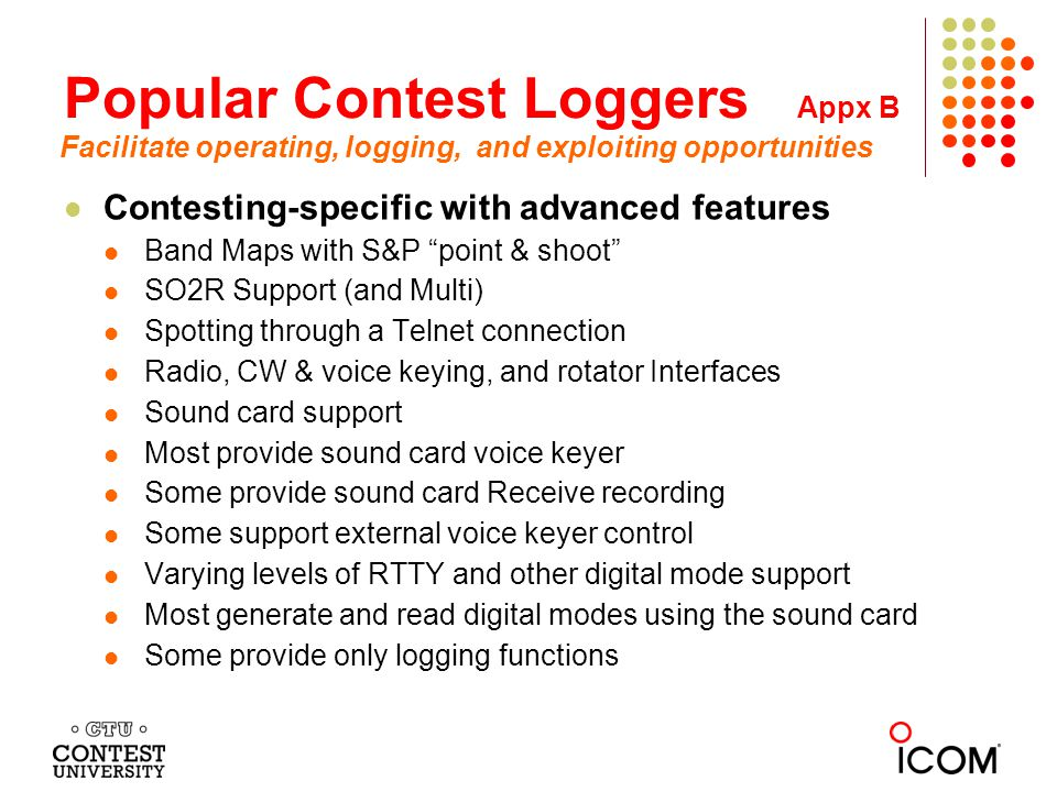 Popular Contest Loggers Appx B