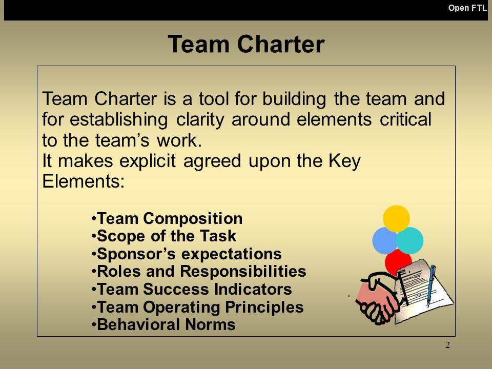 Open FTL Open FTL. Team Charter.