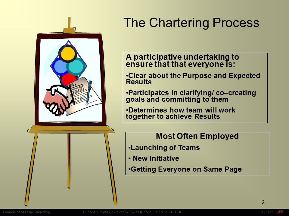 The Chartering Process