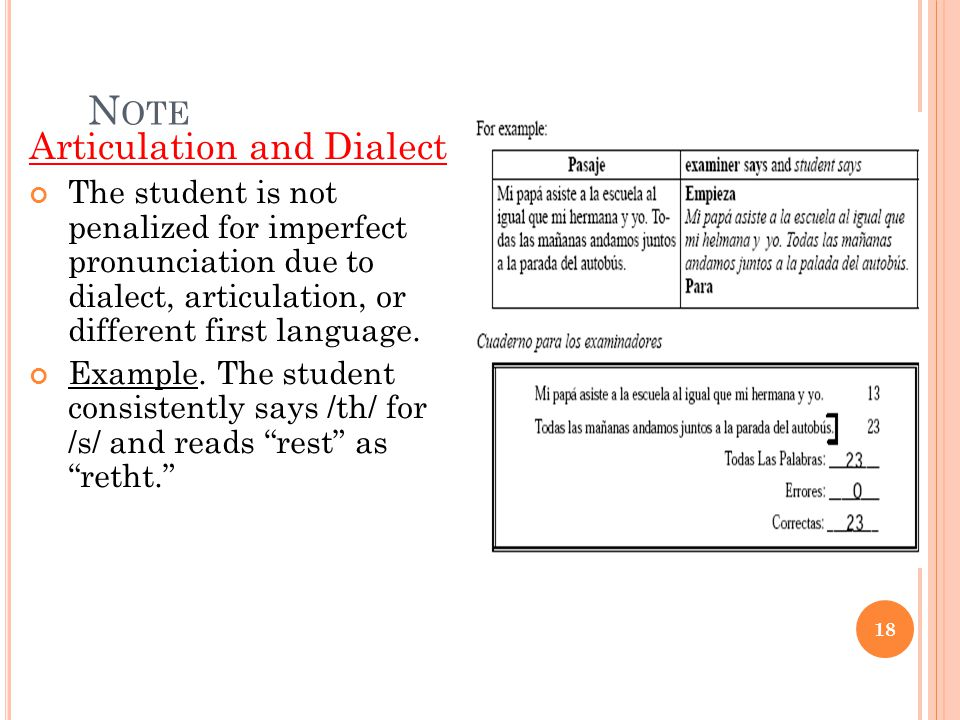 Note Articulation and Dialect