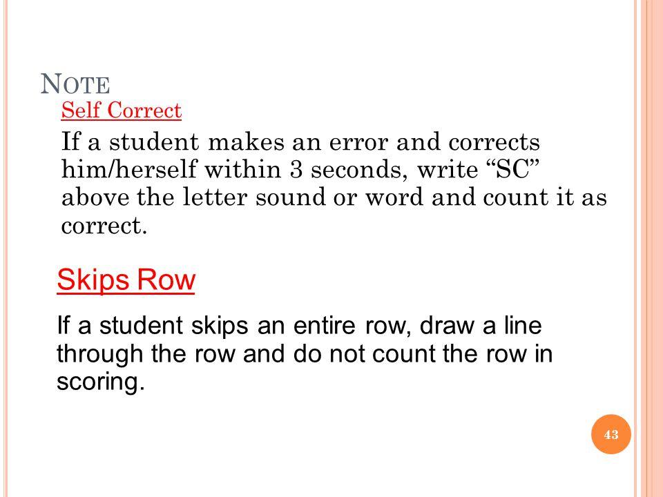 Note Self Correct.