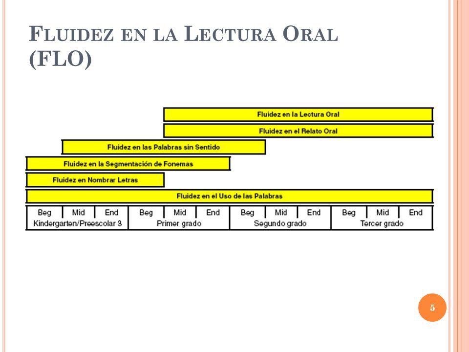 Fluidez en la Lectura Oral (FLO)
