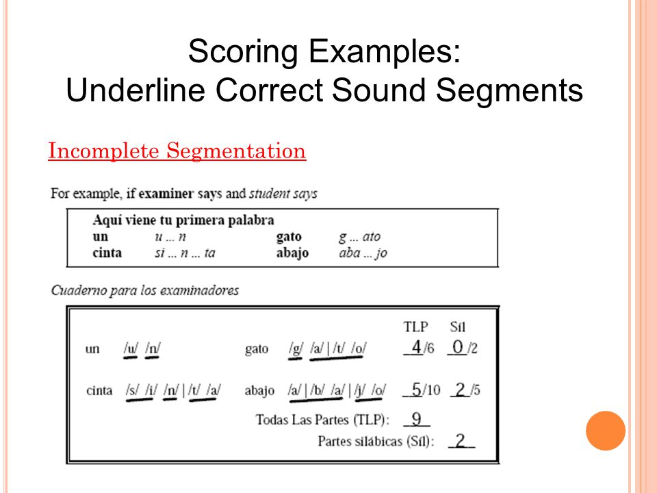 Underline Correct Sound Segments