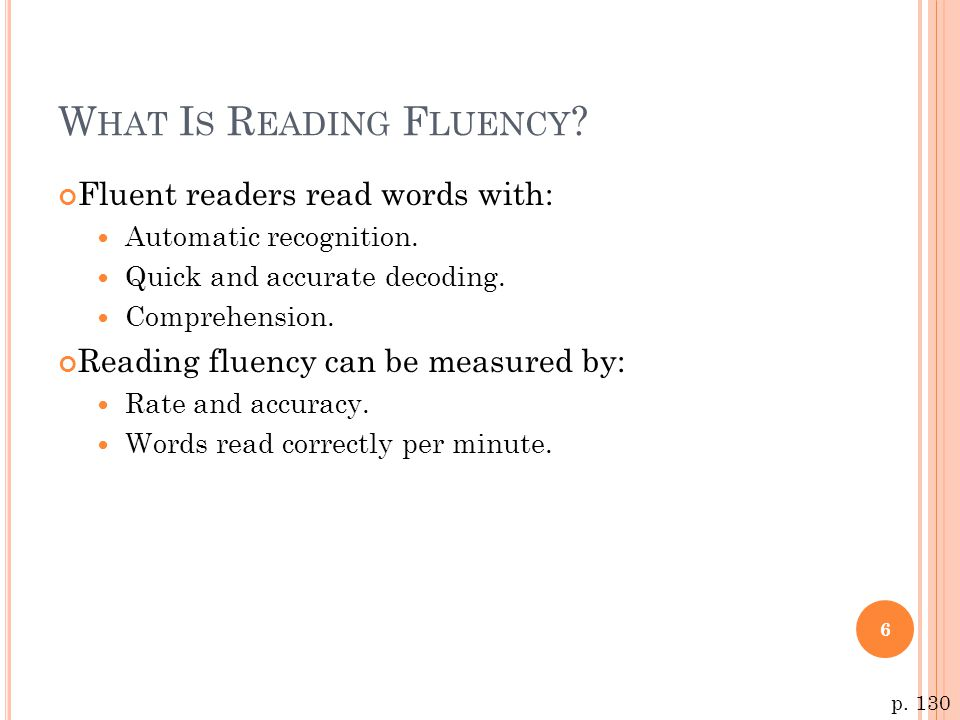 What Is Reading Fluency