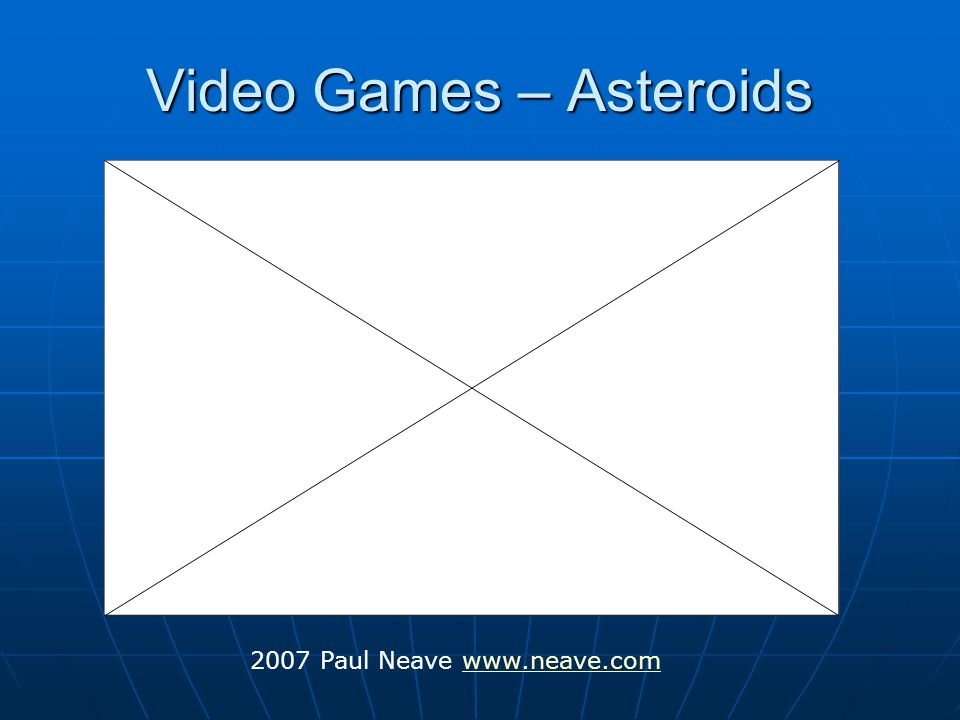 Video Games – Asteroids