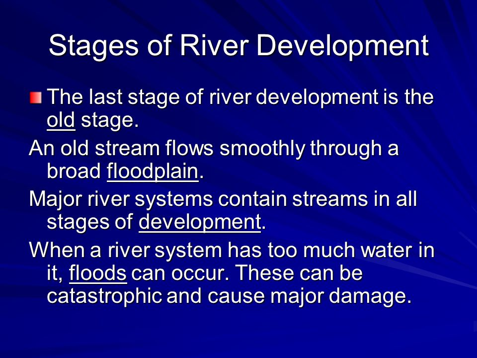 Stages of River Development