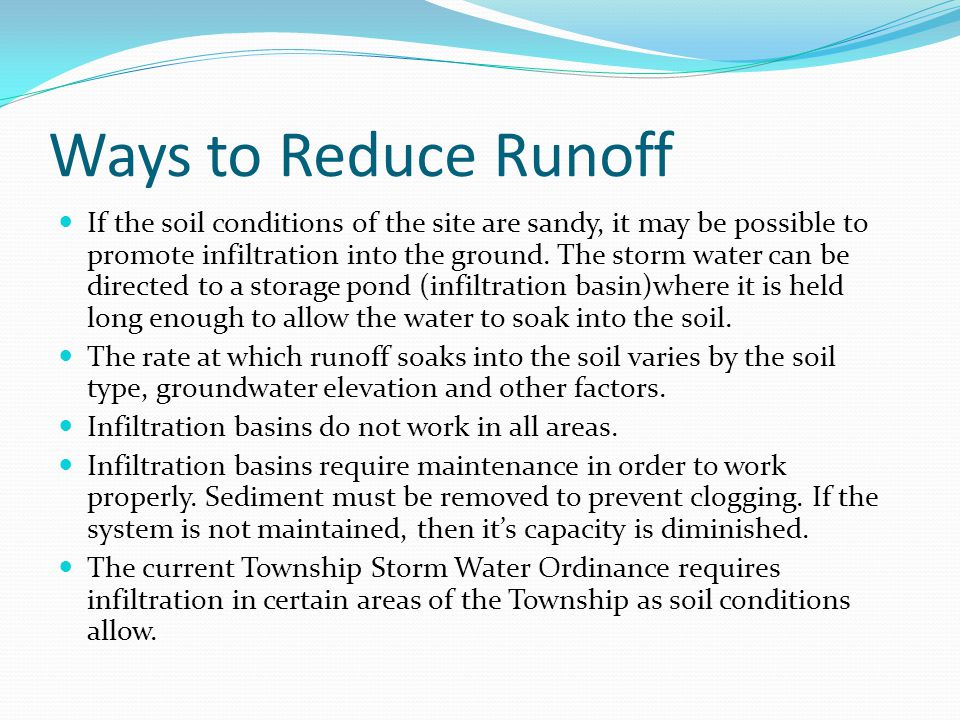 Ways to Reduce Runoff