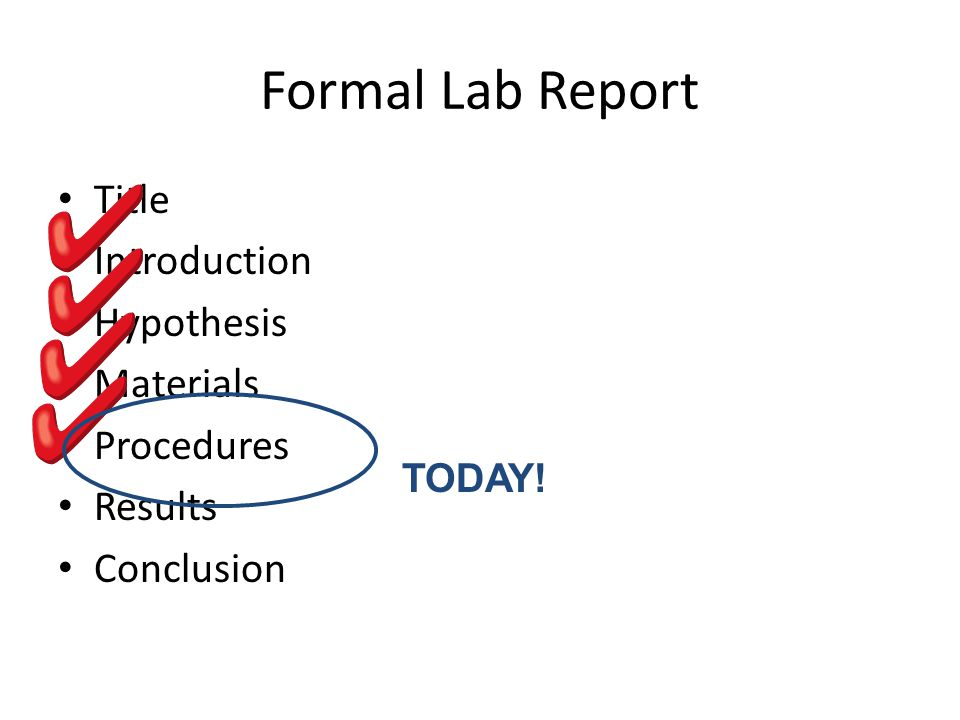 Formal Lab Report Title Introduction Hypothesis Materials Procedures
