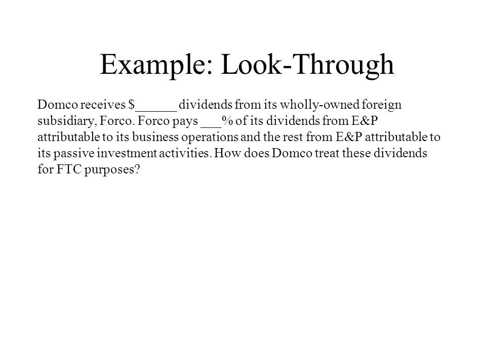 Example: Look-Through