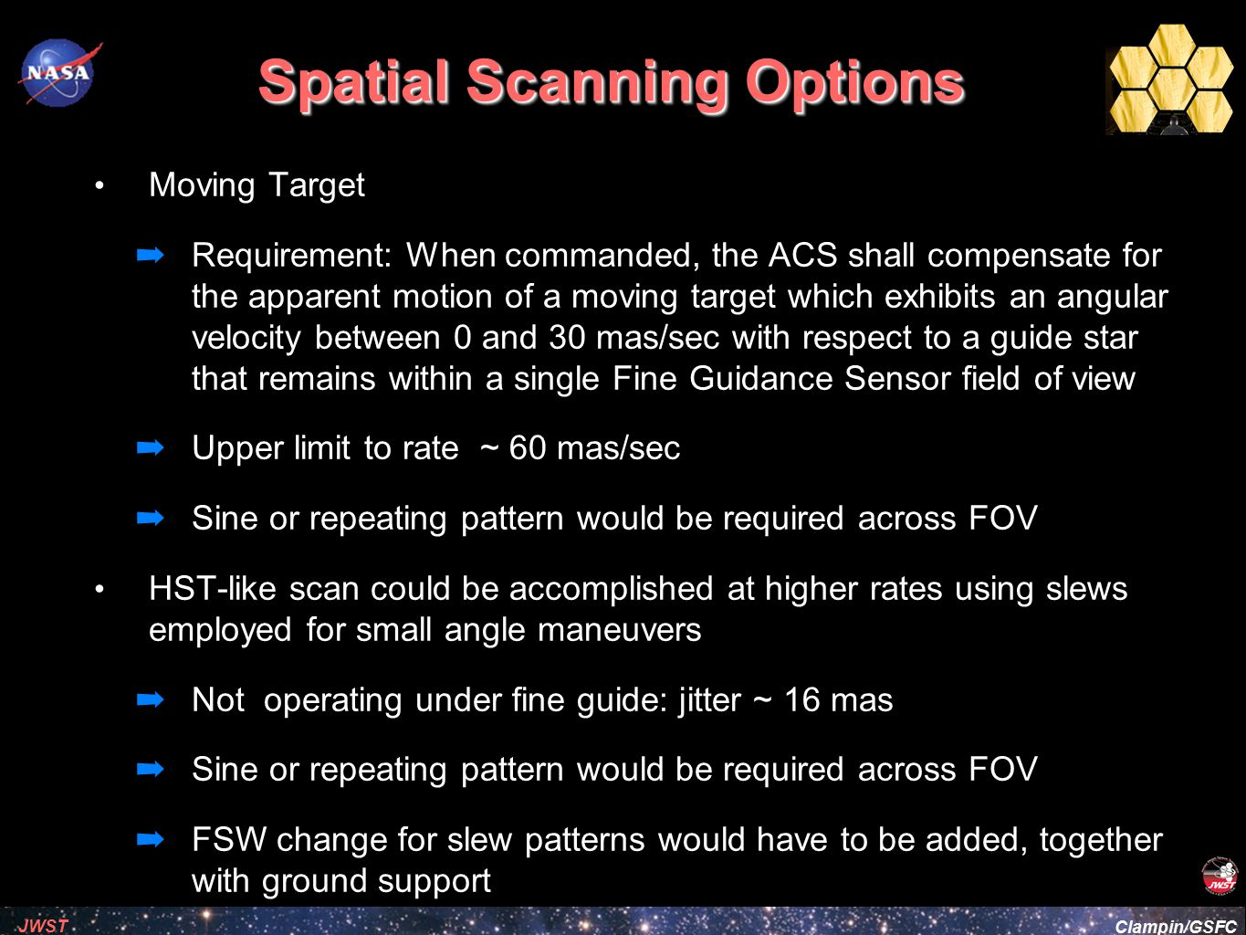 Spatial Scanning Options