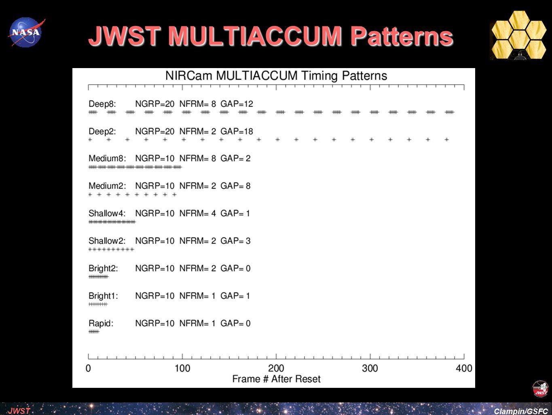 JWST MULTIACCUM Patterns