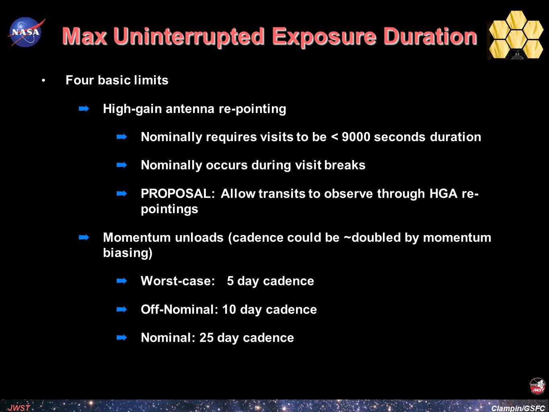 Max Uninterrupted Exposure Duration