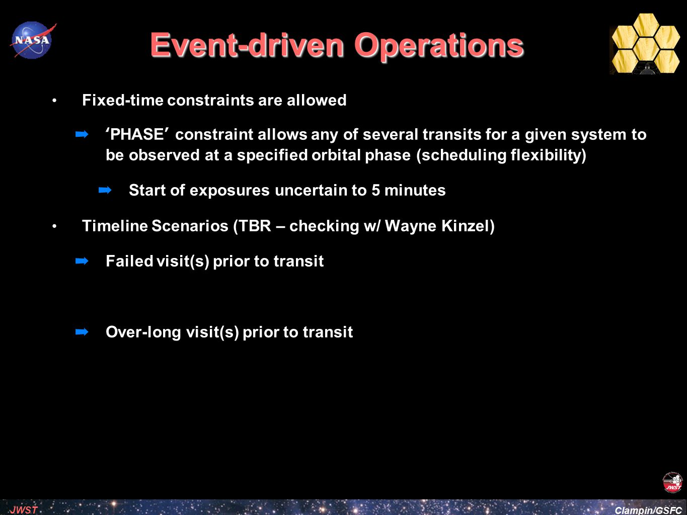 Event-driven Operations