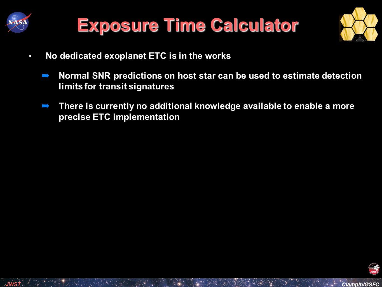 Exposure Time Calculator