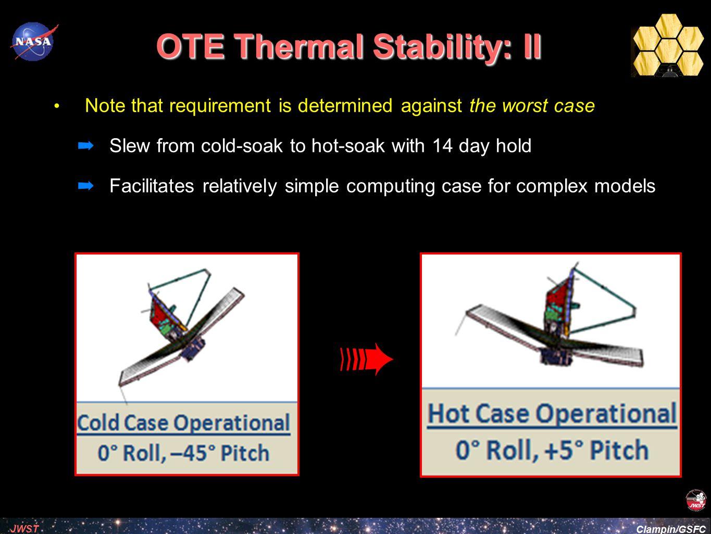 OTE Thermal Stability: II