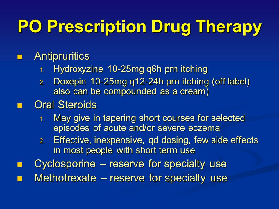 PO Prescription Drug Therapy