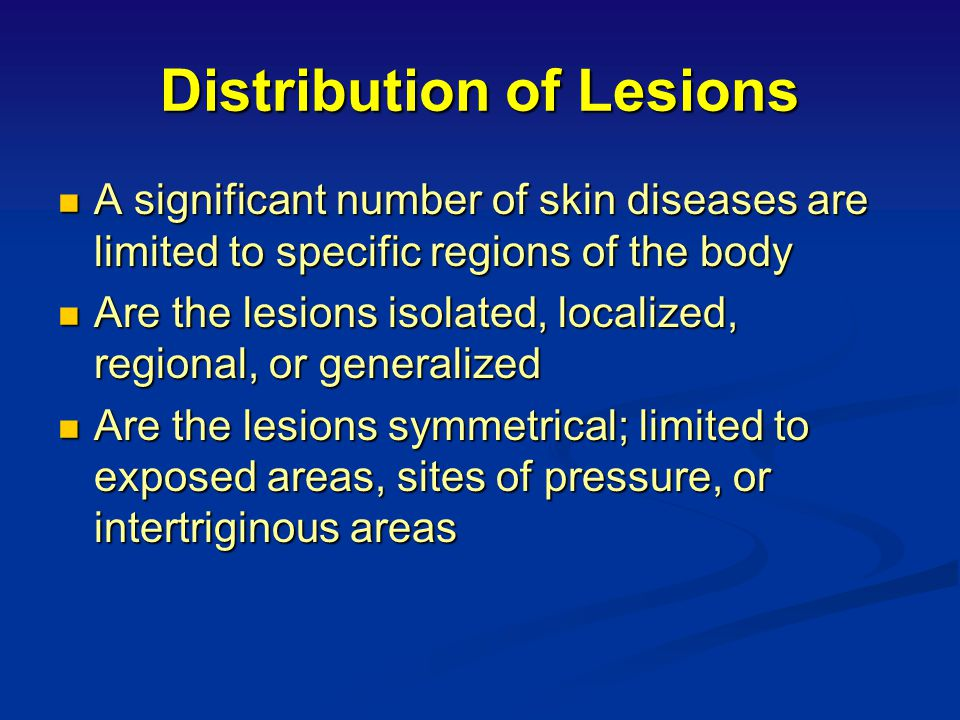 Distribution of Lesions