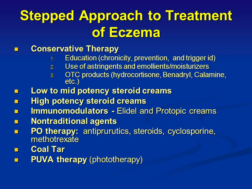 Stepped Approach to Treatment of Eczema
