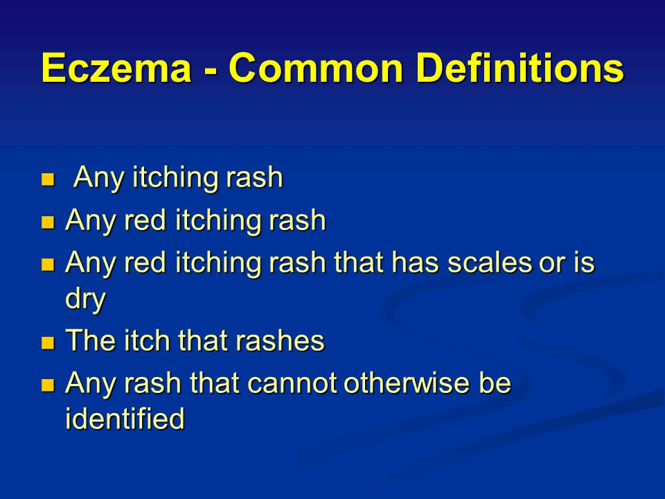 Eczema - Common Definitions