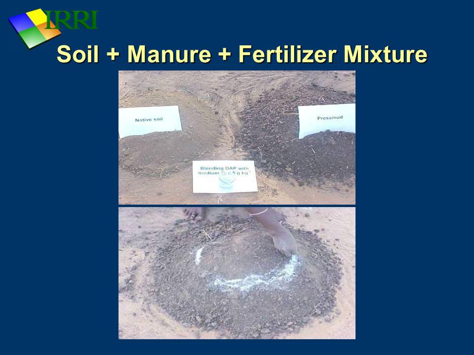 Soil + Manure + Fertilizer Mixture