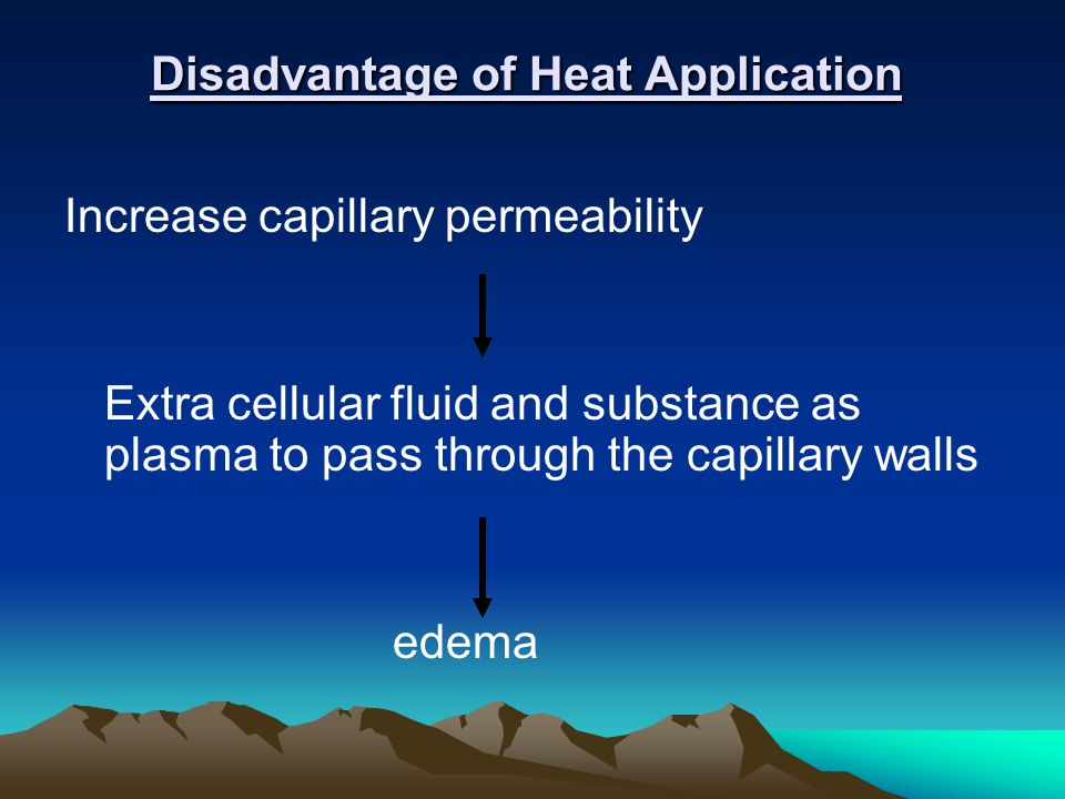 Disadvantage of Heat Application