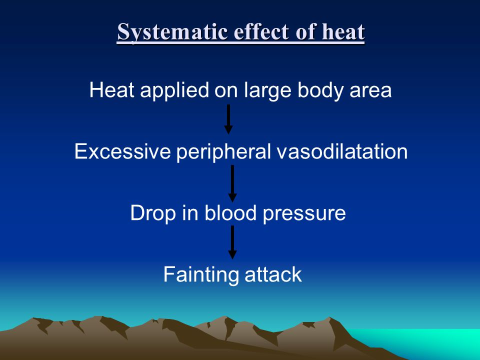 Systematic effect of heat